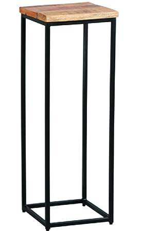 PEGANE Grande sellette en Palissandre et métal laqué Noir - Dim : L ...