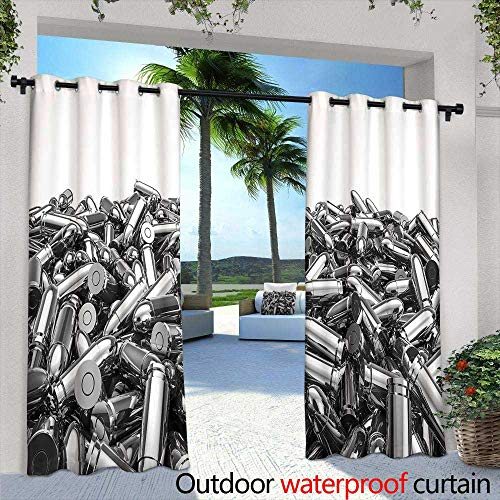 (Lightly Indoor/Outdoor Single Panel Print Window Curtain,Acrylic Colors and Ink in Water Abstract Background,W84 x L84 Outdoor Curtain Waterproof Rustproof Grommet Drape)