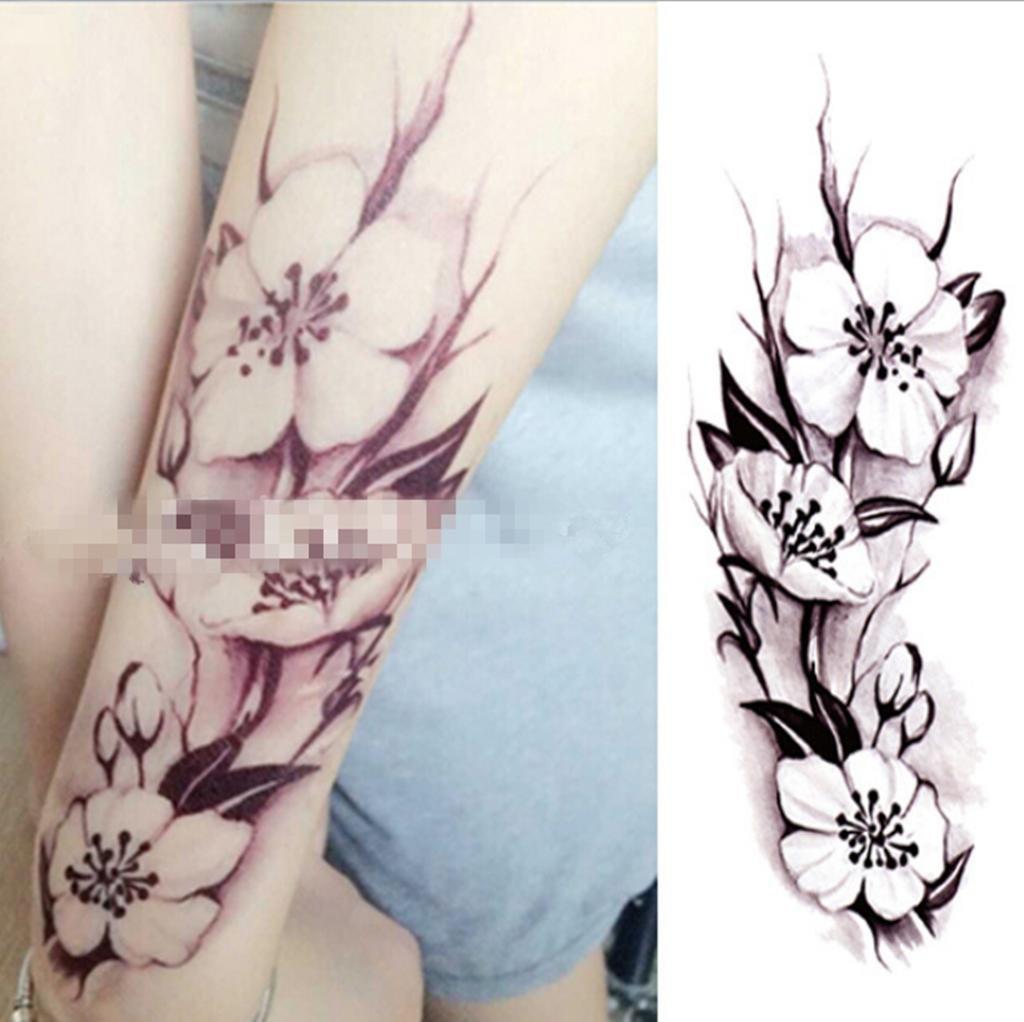 GYMNLJY Etiquetas engomadas del tatuaje Pierna de cubrir cicatrices mano mujer tatuaje impermeable duradera realista temporal tatuajes cuerpo arte Sticker(3 ...