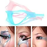 2Pcs Plastic 3 in 1 Makeup Cosmetic Eyelash Tool Upper Lower Eye Lash Mascara Guard Applicator Guide Helper with Eyelash…