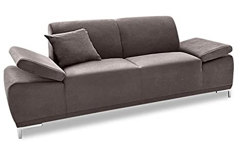 Divano letto singolo divano 2 divano saba grigio in microfibra