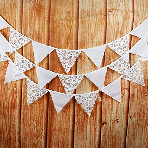 Banners - 12 Flags 3 2m Butterfly Lace Vintage Flag Pennant Wedding Birthday Party Decoration Banner Event - Tassels Men Classroom Jumpers Shenandoah Bautizo Poles Signs Empires Restaurant