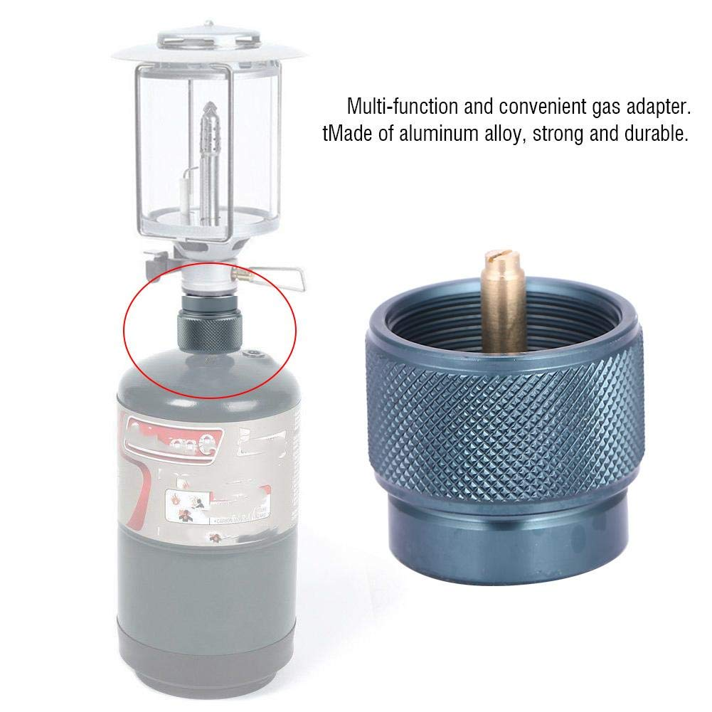 Camping Stove Adapter Outdoor 1LB Propane Small Tank Input Gas Stove Burner Adapter Convertor Valve Canister