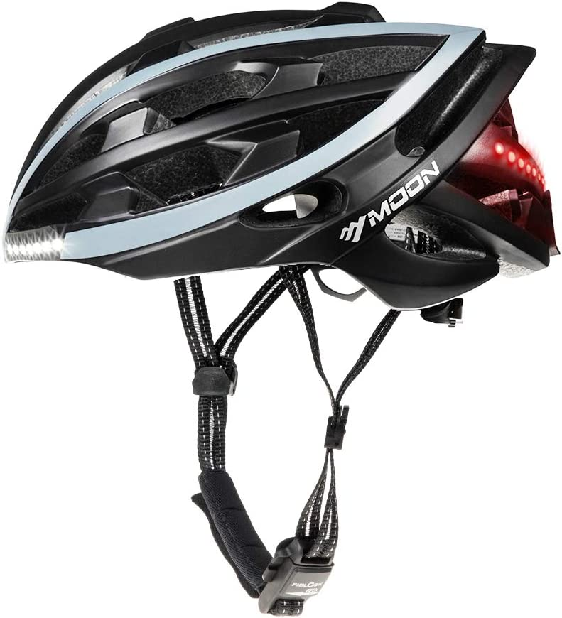 MOON Cycling Helmet with Wireless Turn Signal Bicycle Helmets Bike Helmet Men Women, Only 270g 10H Working Time