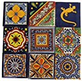 """Set of nine 4"""" x 4"""" tiles for your craft or construction project.  The styles are influenced by the beautiful Spanish architecture in the Guanajauto state of Mexico from the time the Spanish inhabited the area starting in the 1520's.  These t..."""