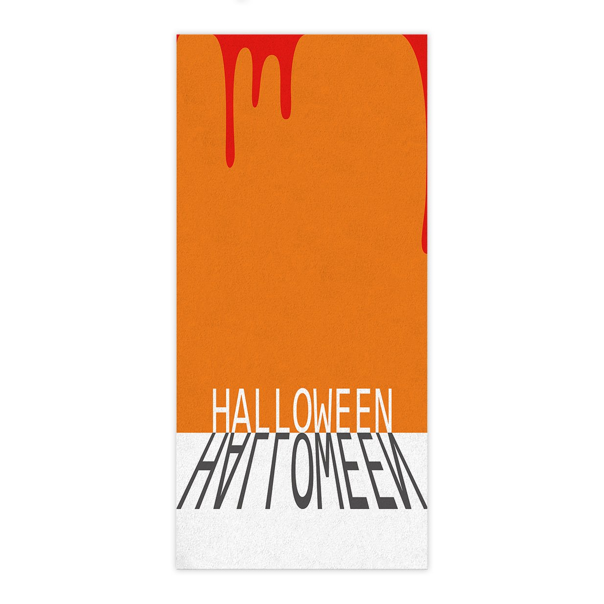 OxOHome Custom Bath Towel Quick Dry Absorbent Towels Spa Shower Wrap for College Dorms, Gyms, Locker Rooms, 27.5 x 55 inch - Halloween Theme