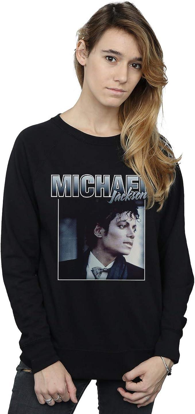Absolute Cult Michael Jackson Mujer Homage Portrait Camisa De Entrenamiento