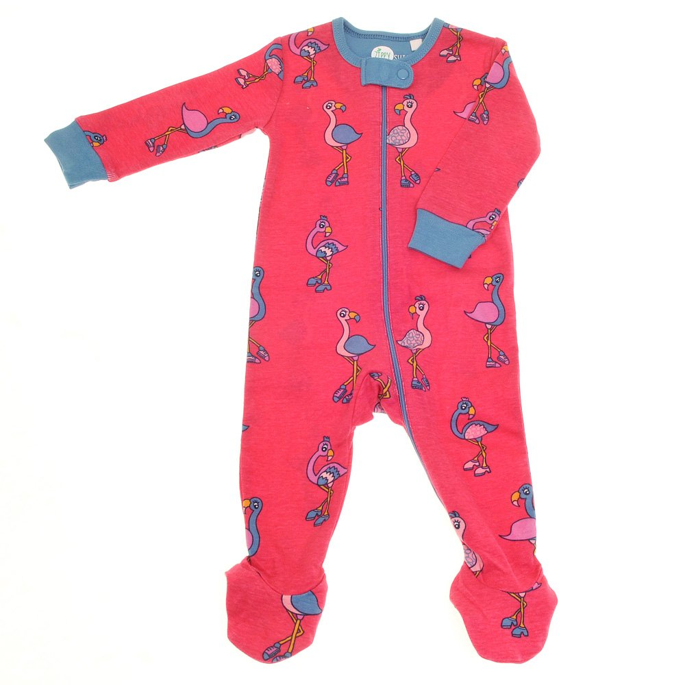 Ziggle Suit Baby Girl Sleepsuit Romper Onesie Bodysuit with Zip