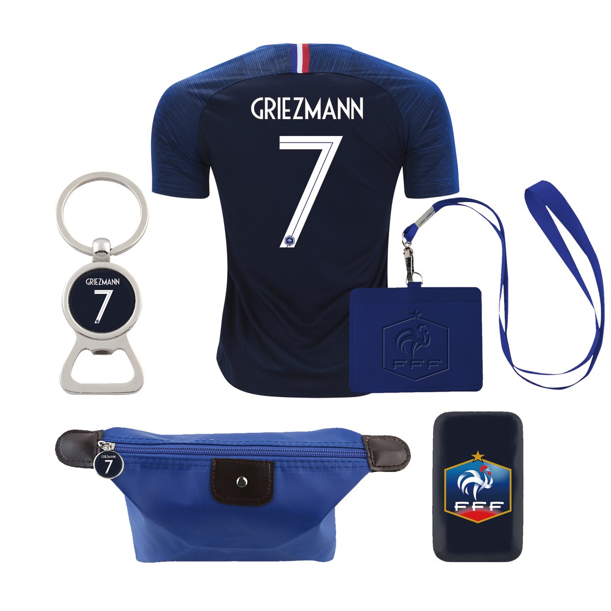 d1ff442c4be Amazon.com  EE bestort France  7 Griezmann 2018 Home Mens Soccer Jersey  Color Blue (Small)  Sports   Outdoors