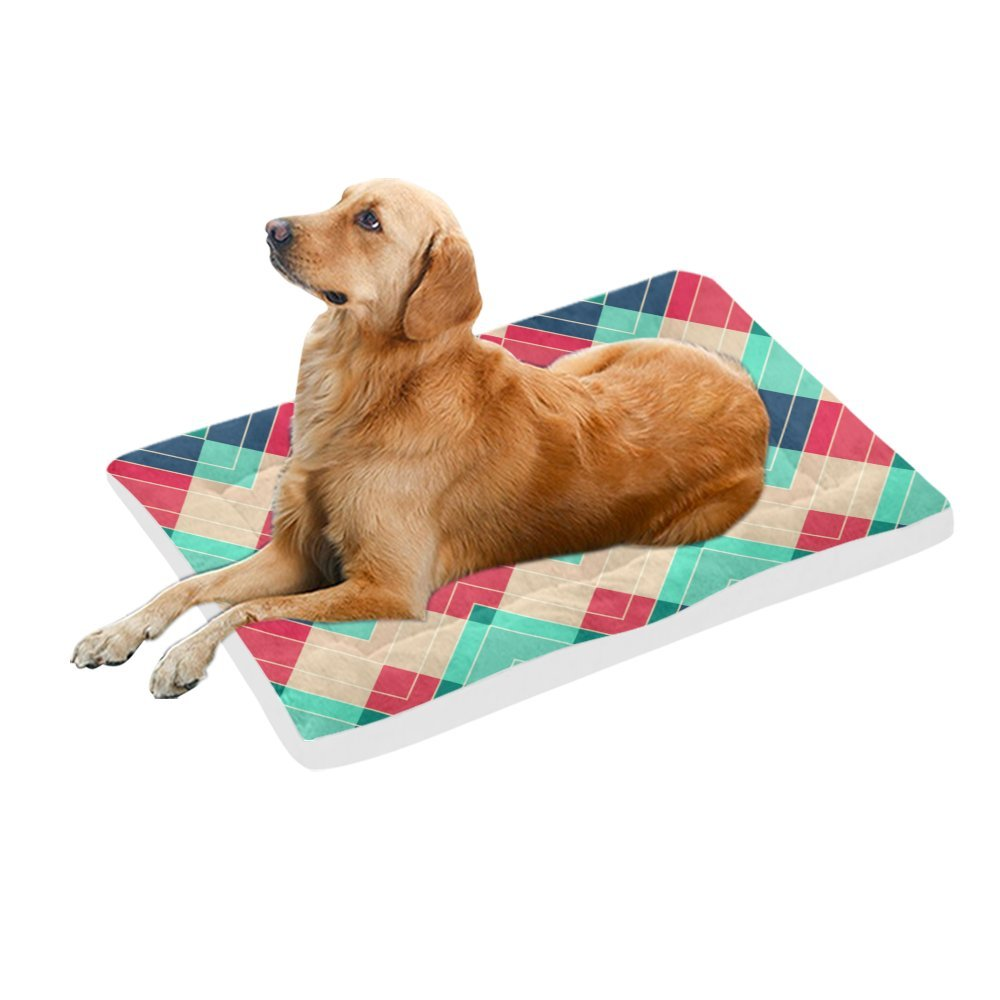 42\ your-fantasia Red and bluee Chevron Pet Bed Dog Bed Pet Pad 42 x 26 inches