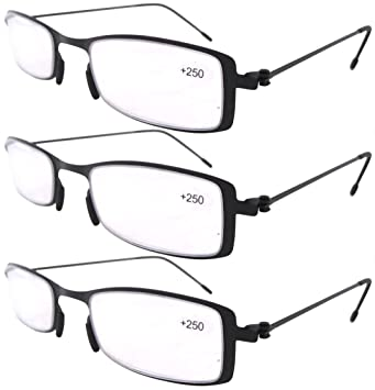 4086a15ba18d Eyekepper 3-Pack Unique Lightweight Stainless Steel Frame Cheap Reading  Glasses For Men and Women