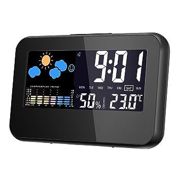 Termómetro Higrometro digital,Glisteny Interior Monitor de Humedad Temperatura(Medir Temperatura, Humedad,