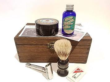 Amazon.com Wedding Groomsmen Gift - Wet Shave Kit Engraved Box Set for Men of Shaving Essentials Last Minute Rush Beauty  sc 1 st  Amazon.com & Amazon.com: Wedding Groomsmen Gift - Wet Shave Kit Engraved Box Set ...