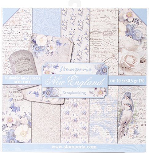 """Stamperia Intl Old England Double Sided Paper Pad (10/Pack), 12"""" x 12"""""""