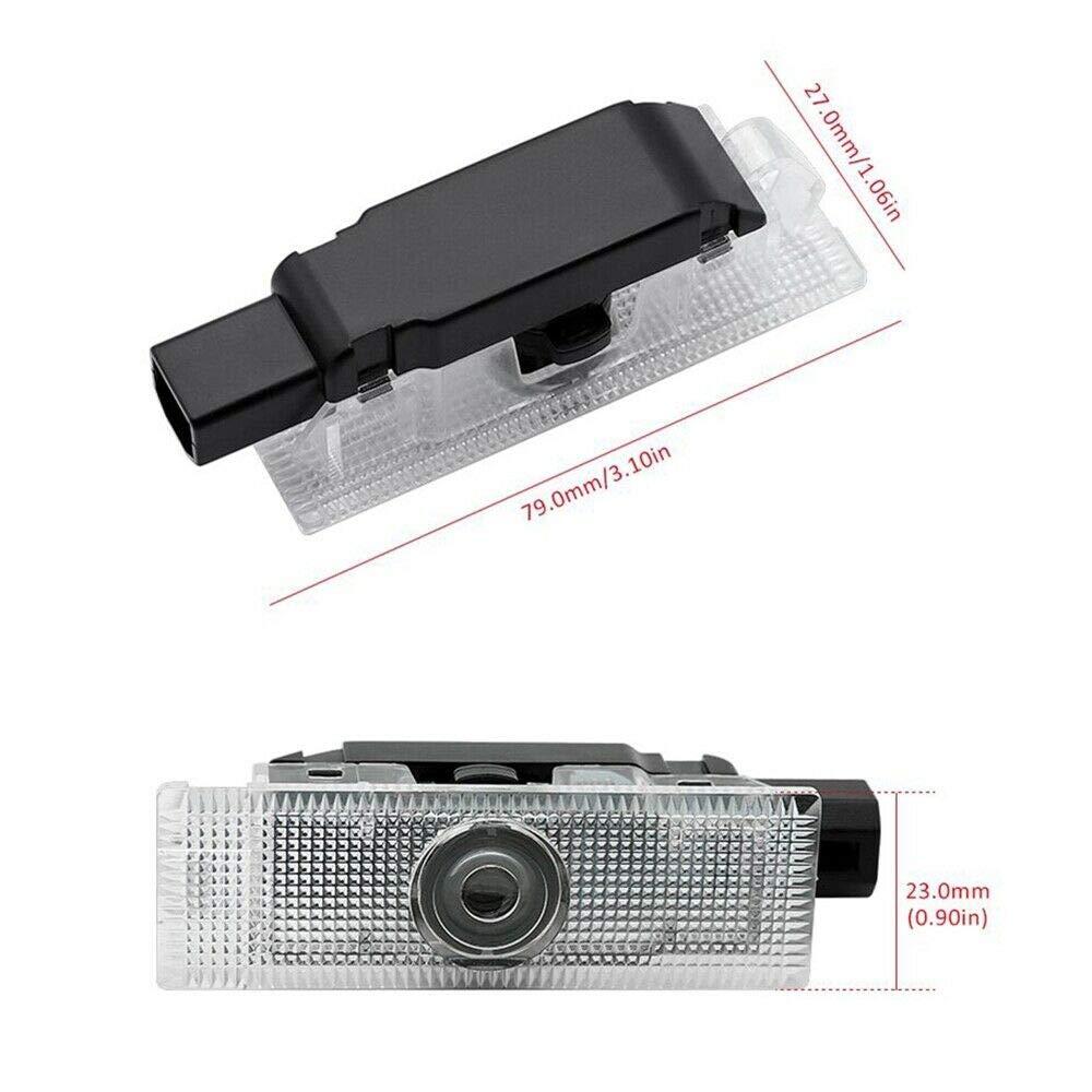 2x Car LED Puddle Projector Ghost Laser logo light For Dodge Challenger R//T Scat Pack,long lifetime film slides,plug and play installation