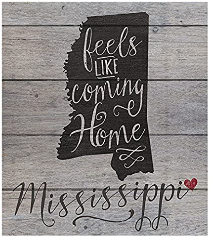amazon com kindred hearts 12 x13 5 mississippi state slogan pallet