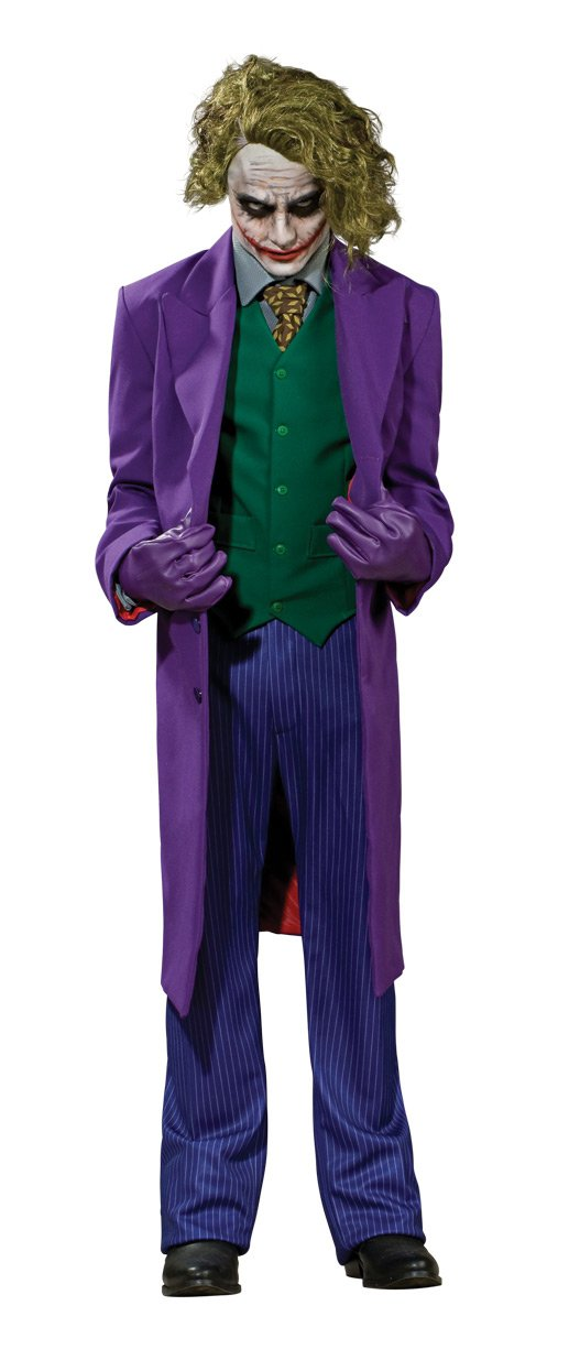 Batman The Dark Knight Grand Heritage Deluxe Costume And Mask, The Joker, Purple, Large by Rubie's