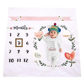 Amazon Com Newborn Baby Unicorn Milestone Blanket Photography