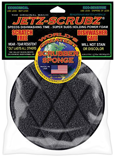 Jetz-Scrubz J22 Scrubber Sponge, Round, Made in the USA