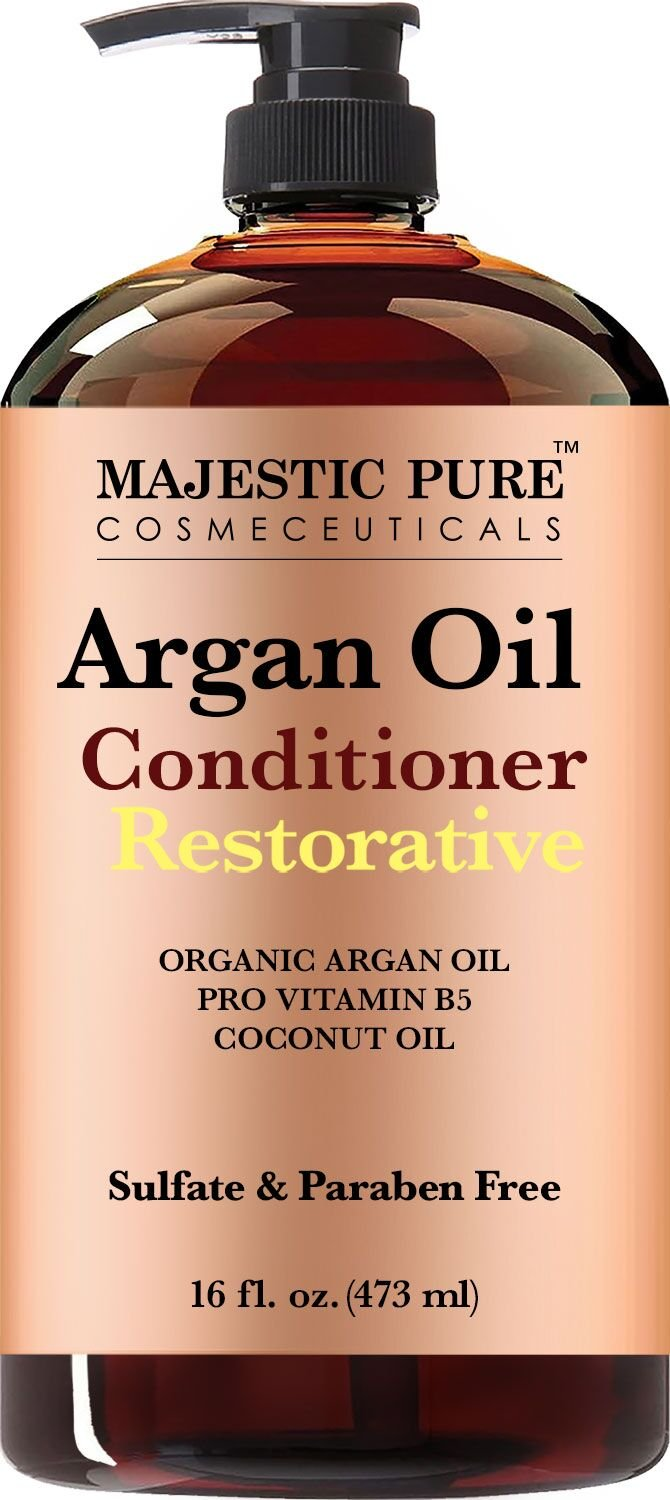 Majestic Pure Argan Oil Hair Conditioner, Pure and Natural for All Hair Types, Sulfates Free, Parabens Free - 16 Fl Oz … by Majestic Pure