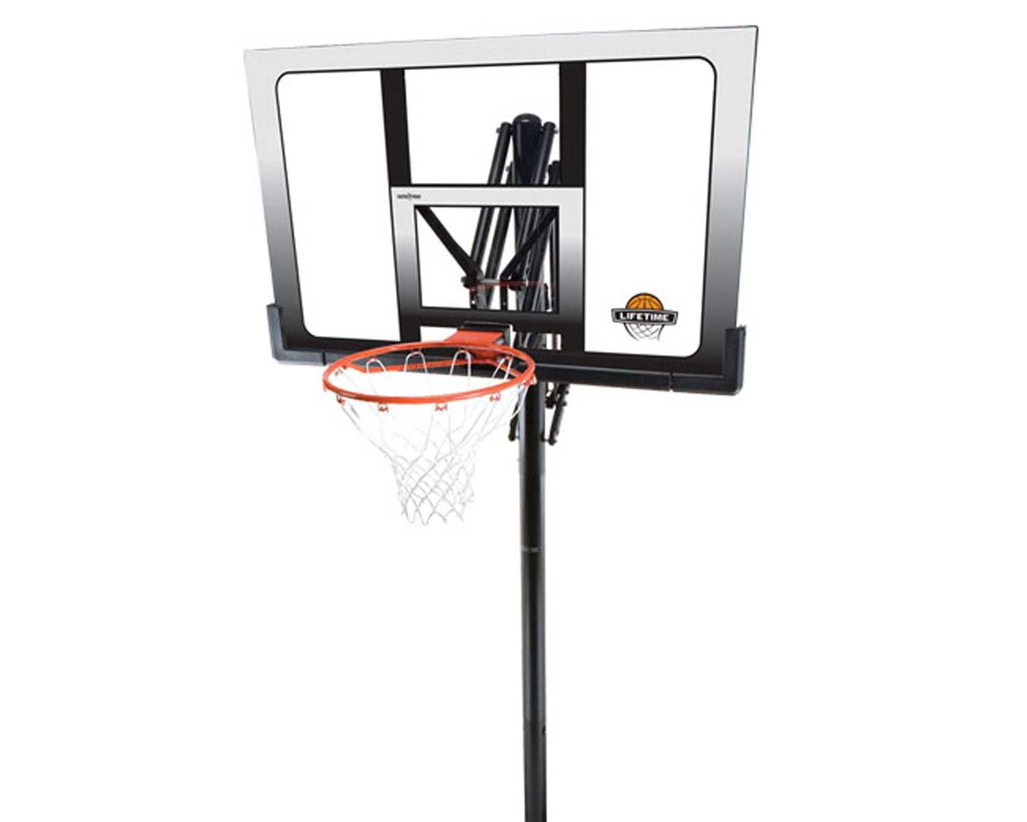 Lifetime 71281 In Ground Power Lift Basketball System, 52 Inch Shatterproof Backboard by Lifetime