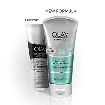 3 Pack - OLAY Luminous Brightening Cream Cleanser 5 oz 5 Pack - Quality Choice Petroleum Jelly 3.75 Oz Each