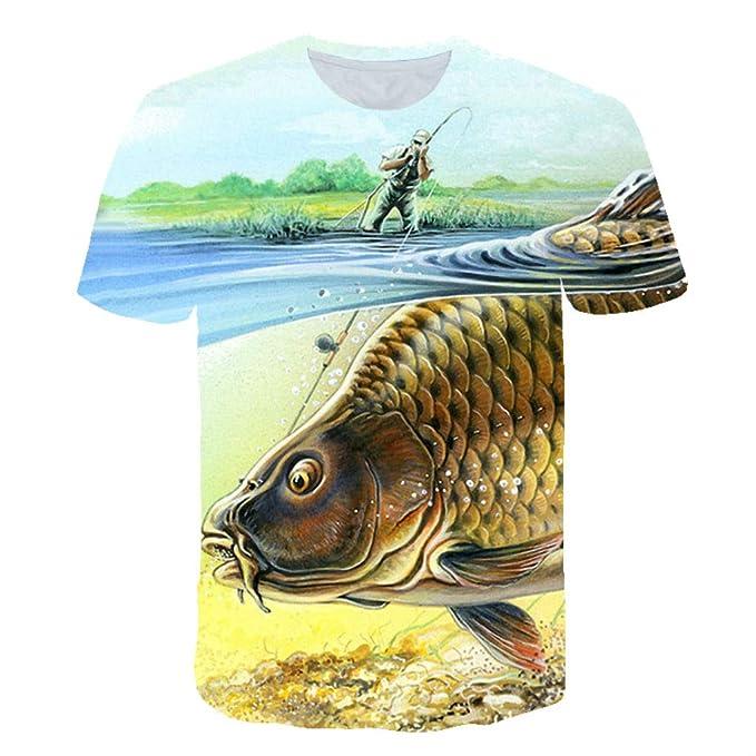 cc7cddebae52 Men/Women's T Shirt Fishing Big Fish Unisex 3D Print Short Sleeve T Shirt  Casual