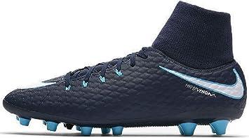 fecha límite mineral Minimizar  Nike Bota Hypervenom Phelon III DF AG-Pro, Color Azul Marino/Turquesa:  Amazon.es: Zapatos y complementos