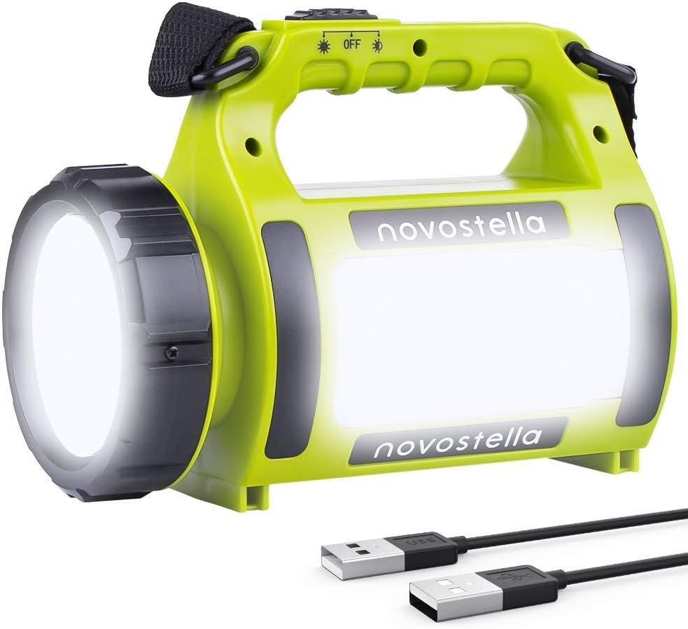 EULOCA Wiederaufladbare CREE LED Handscheinwerfer Wasserdicht Suchscheinwerfer 2600mAh Camping Laterne
