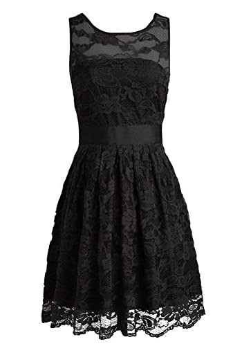 Yougao Women's Floral Lace Dresses Short Bridesmaids Evening Party Dresses