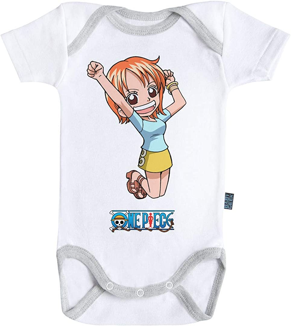 Baby Geek Nami One Piece TM - Body de manga corta para bebé blanco 3 - 6 Meses: Amazon.es: Ropa y accesorios