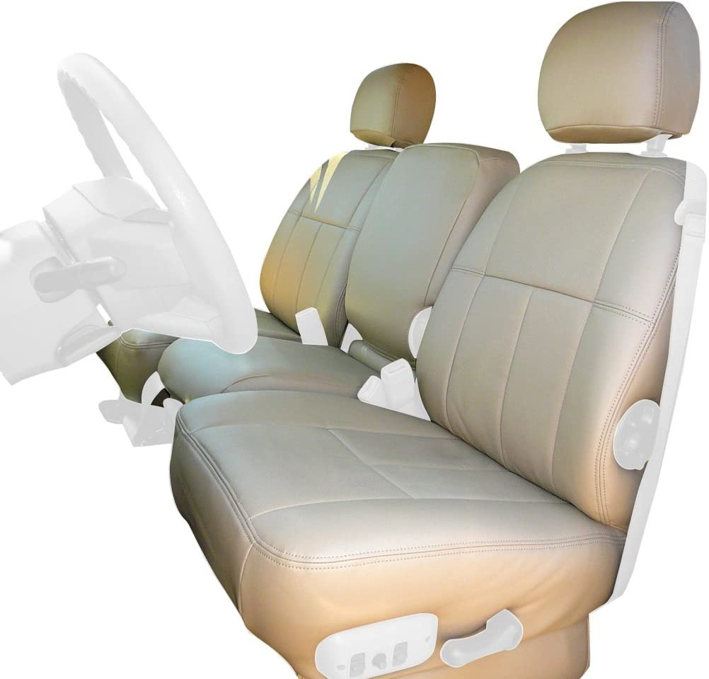 Clazzio 701631tann Tan Leather Front Row Seat Cover for Dodge Ram 1500 Regular Cab
