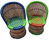 Bamboo Chairs For Balcony Kids Size Bamboo Rattan Chair Set Of 2 Pcs