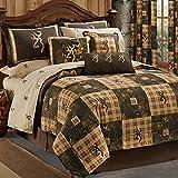 Browning Country 8 Piece Queen Quilt Comforter Set - Includes: (1 Queen Comforter, 2 Pillow Shams, 1 Bedskirt, 1 Fitted Sheet, 1 Flat Sheet, 2 Pillowcases)