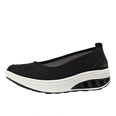 b18819244055 Byste Fashion Women Air Cushion Platform Shoes Shake Shoes Slip Sport  Leisure Sneakers Ladies Comfy Pointed