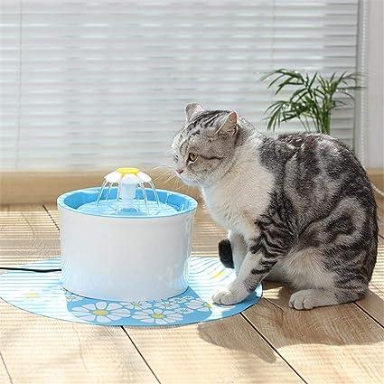 Haodene Fuente de Agua para Gatos Perros silenciosa – 1.6L automático circulación dispensador de Agua