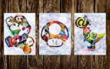 Mario Wall Art Set of three Prints (Availabe in sizes 8 x 10, 11 x 14, 16 x 20, 20 x 24)