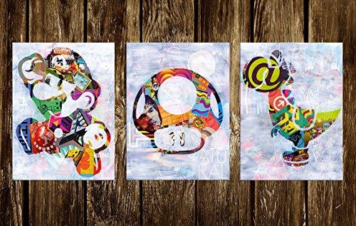 Mario Wall Art Set of three Prints (Availabe in sizes 8 x 10, 11 x 14, 16 x 20, 20 x 24) by Art Pop Tart