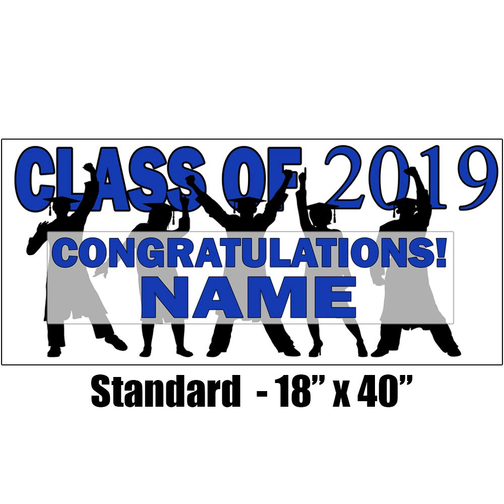 2019 Blue Graduation Banner (Each) Customized by Partypro