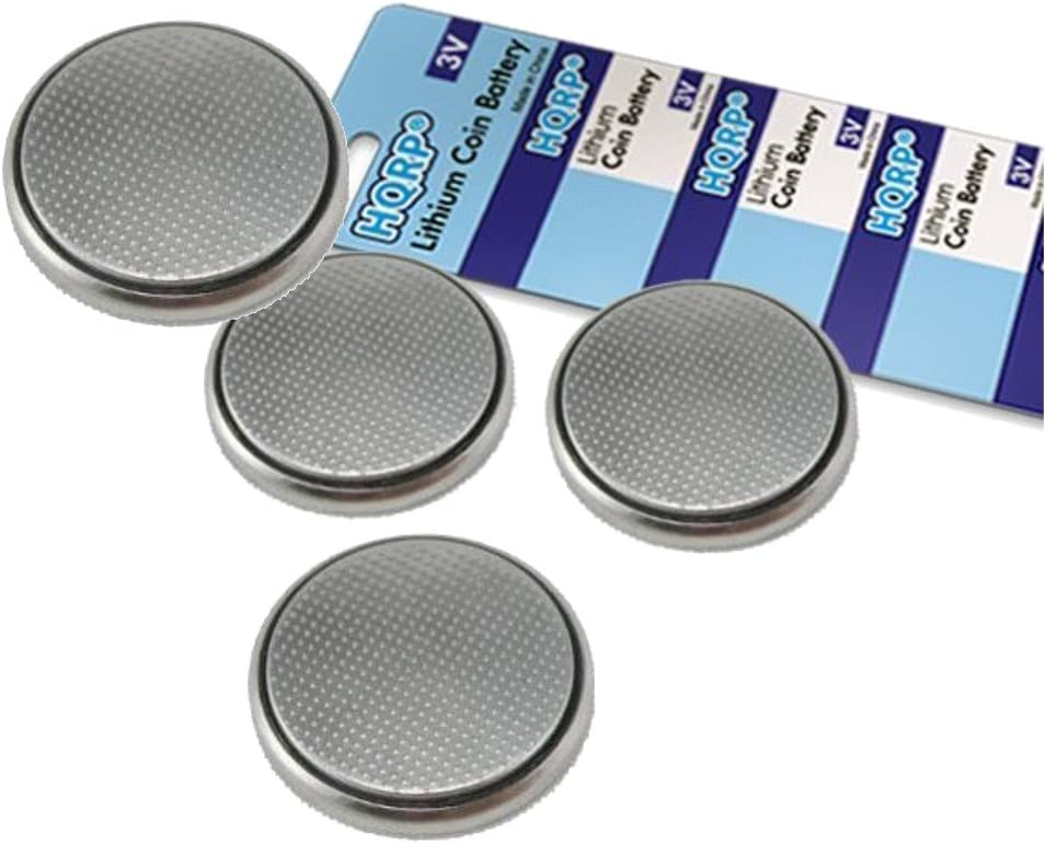HQRP 4-Pack Coin Lithium Battery for Samsung Smartthings Multipurpose Sensor F-MLT-US-2 HQRP Coaster