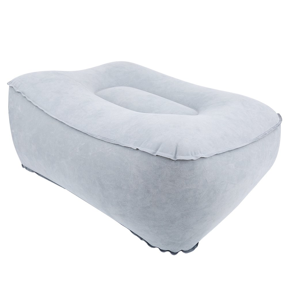 Foot Rest Pillow PVC Inflatable Foot Rest Mat with Air Pump for Office Home Travel