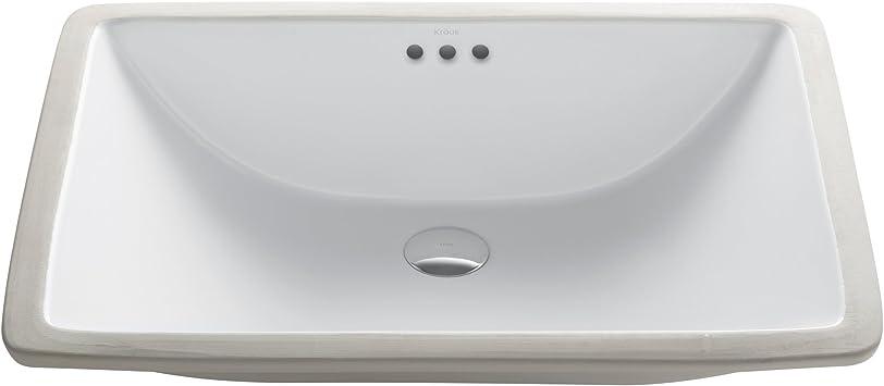 Kraus Kcu 251 Elavo Ceramic Large Rectangular Undermount Bathroom Sink With Overflow White Amazon Ca Tools Home Improvement