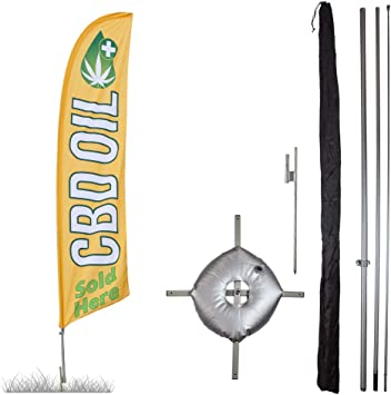WATER WEIGHT BAG for Swooper Feather Flag Kit Cross Stand Base Bag Only
