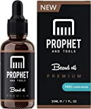 PREMIUM Unscented Beard Oil and Comb Kit for Thicker Facial Hair Grooming - The All-In-One Conditioner and Shampoo-like Softener, Shine and Fuller Beards & Mustache Growth - NUTS-FREE, VEGAN & FOR MEN! Prophet and Tools