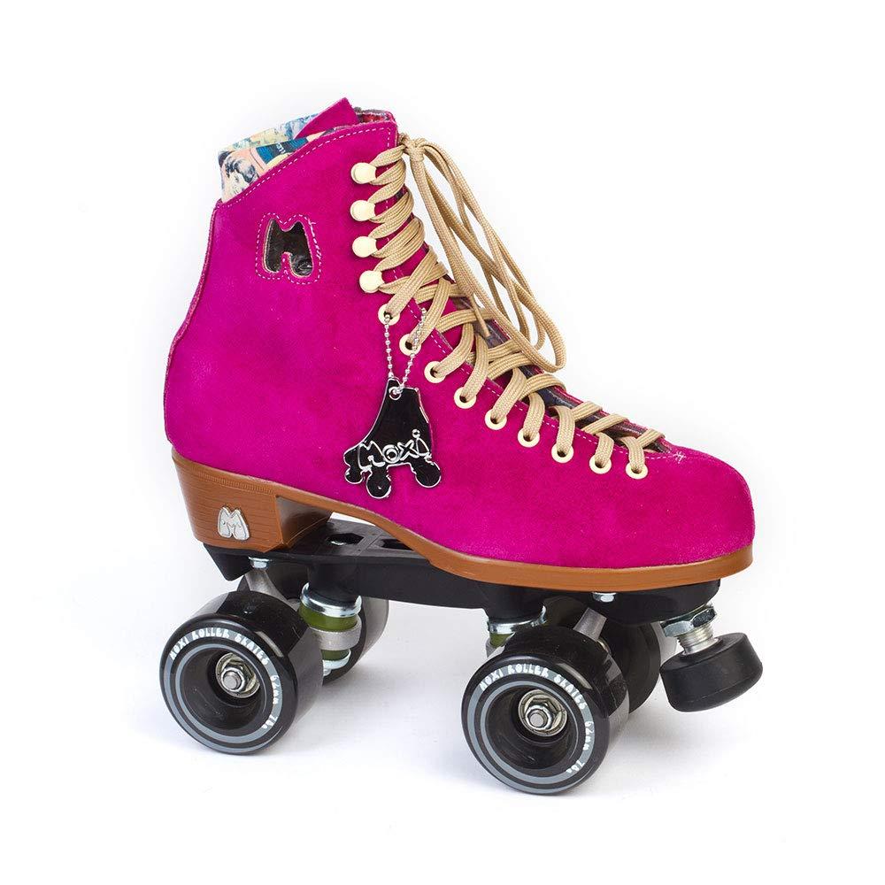 Moxi Skates - Lolly - Fashionable Womens Quad Roller Skate | Fuchsia | Size 4