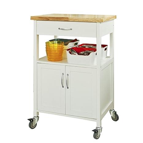 SoBuy® Carrito de servir, estantería de cocina, carrito de cocina móvil, FKW22