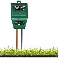 EasyULT 3-in-1 bodemtester kit met meter, bodemtester vocht/licht/pH van plantzuurmeter, voor planten, tuin (groen)