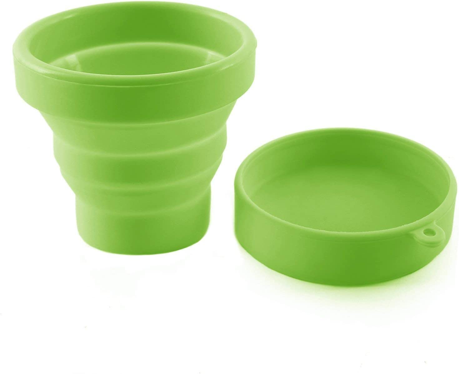 AvaLoona Esterilizador Plegable con Tapa para Copa Menstrual Fabricado en Silicona (Verde)