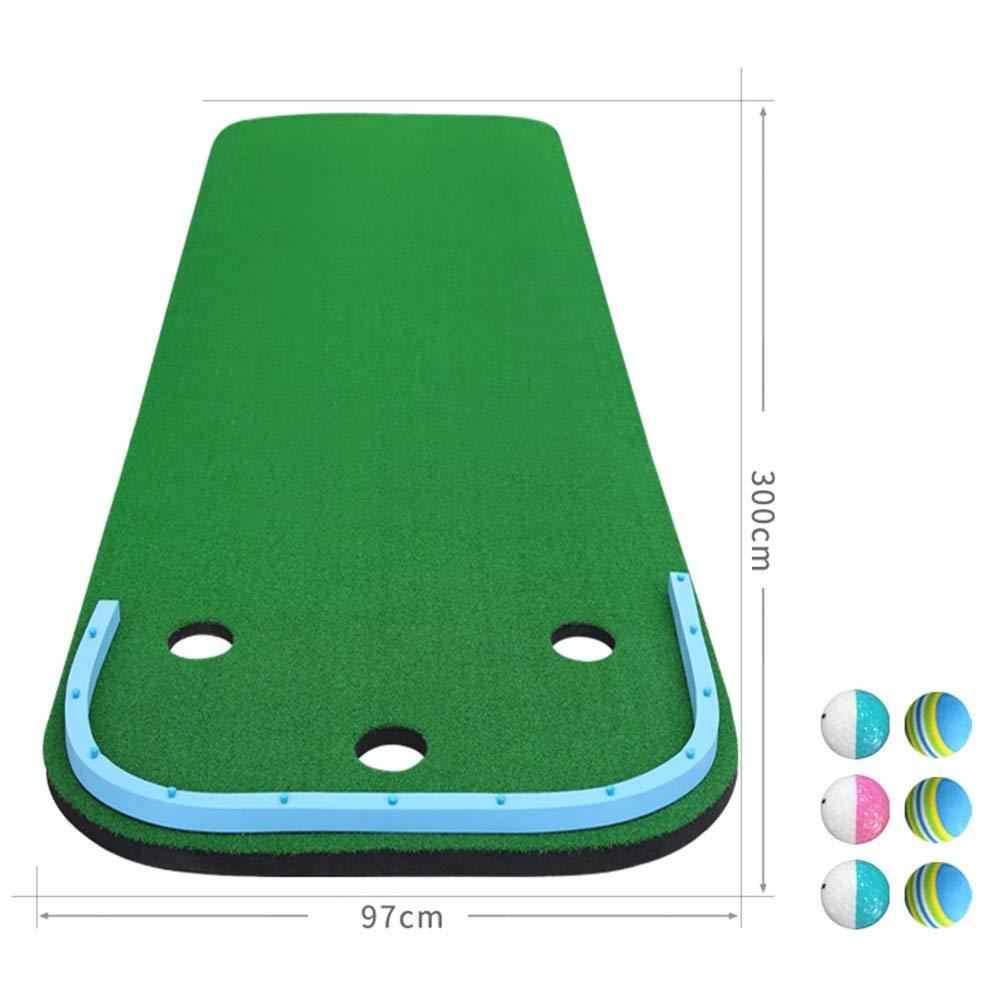 WENZHE ゴルフマット パターマット 練習器具 ネット ポータブル 長方形 スロープデザイン 家族 オフィス エクササイズブランケット シミュレーション 芝生、 2のスタイル オプション 300x97cm B B07L7RF1CW