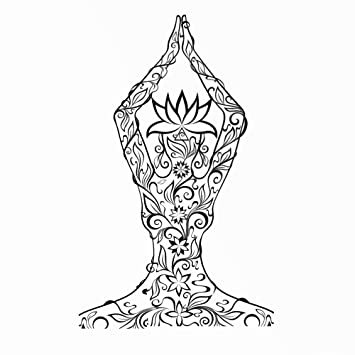 Namaste Yoga Mandala - Plantilla reutilizable para estarcir ...